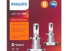 阿部商会、PHILIPSアルティノンLEDバルブシリーズ 24ボルト車にも対応 LEDヘッドランプバルブH4タイプ