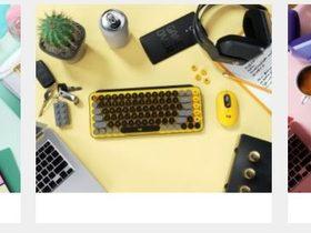 ロジクール、POPなメカニカルキーボードとマウス